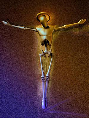Holy Robocrist  Art Print by Joaquin Abella