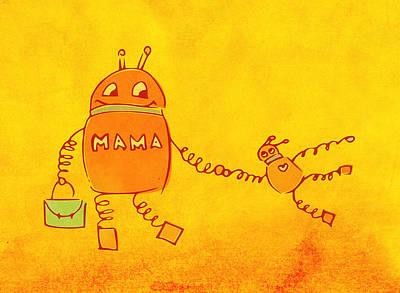 Robomama Art Print