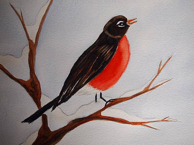 Painting - Robin by Rod Stewart
