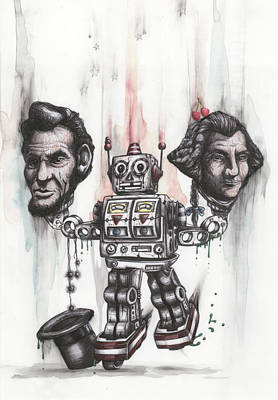 Abe Mixed Media - Robopotus by Tai Taeoalii