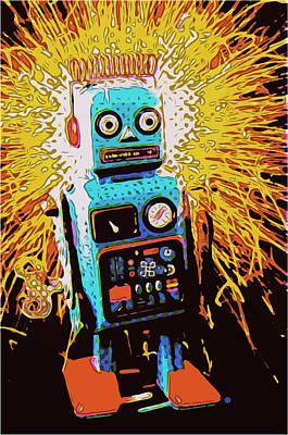 Digital Art - Robot Blast by Gary Grayson