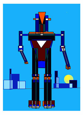 Digital Art - Robot by Denny Casto