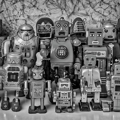 Bot Photograph - Robot Family by Garry Gay
