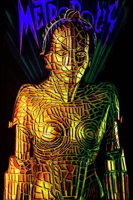 Digital Art - Robot Of Metropolis by Michael Cleere