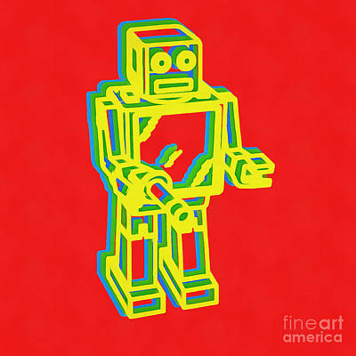 Photograph - Robot Pop Art by Edward Fielding
