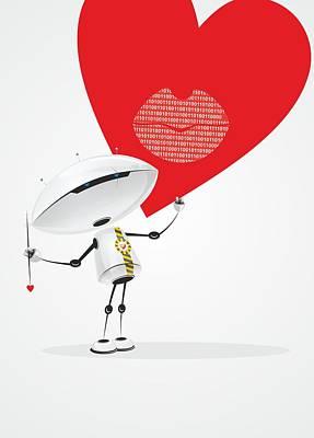 Robot Romantic Original by Sergey Ponkratov