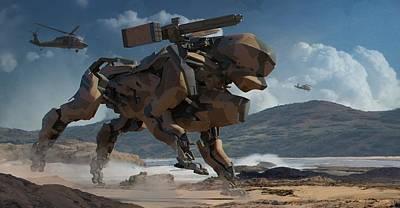 Digital Art - Robot by Super Lovely