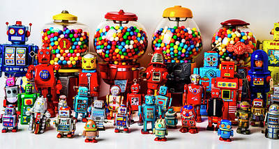 Photograph - Robots And Bubblegum Machines by Garry Gay