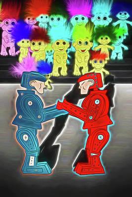 Digital Art - Robots And Trolls by John Haldane