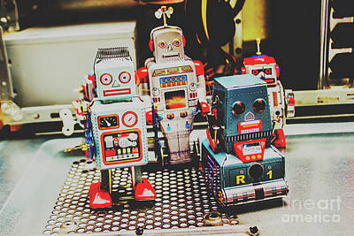 Robots Of Retro Cool Art Print by Jorgo Photography - Wall Art Gallery