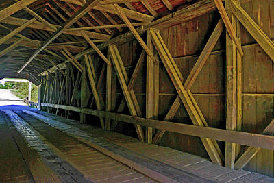 Photograph - Robyville Covered Bridge, Corinth, Maine by Marilyn Burton