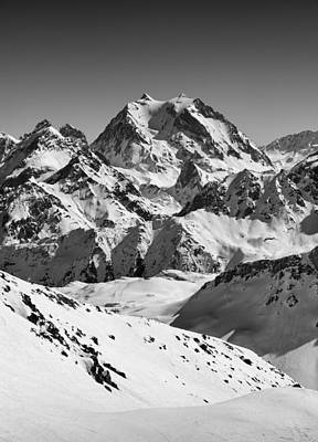 Ski-scape Photograph - Roc Merlet by Graham Moore
