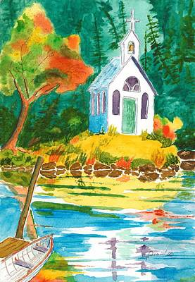 Roche Harbor Chapel Art Print by Buster Dight