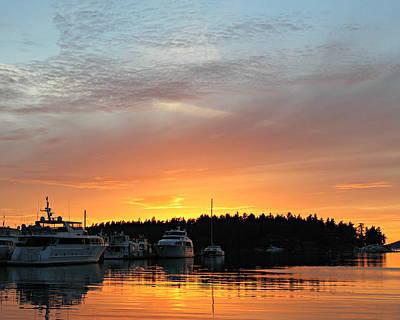Roche Harbor Sunset Art Print