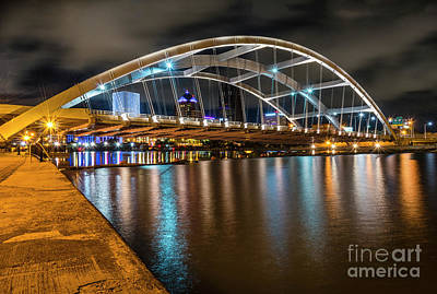 Photograph - Rochester Bridge Glow by Joann Long