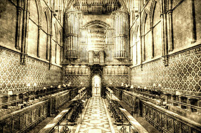 Photograph - Rochester Cathedral Vintage by David Pyatt