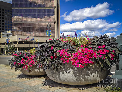 Photograph - Rochester Flower Pots by Joann Long