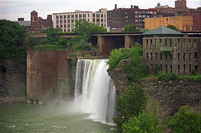 Art Print featuring the photograph Rochester, New York - High Falls 2 by Frank Romeo
