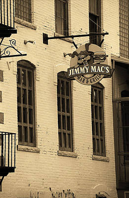 Art Print featuring the photograph Rochester, New York - Jimmy Mac's Bar 3 Sepia by Frank Romeo