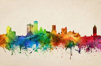 Rochester New York Skyline 05 Art Print by Aged Pixel