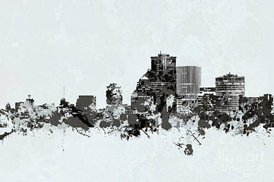 Photograph - Rochester New York Skyline Bw by Joann Long