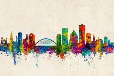 Rochester New York Skyline Art Print