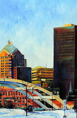 Painting - Rochester New York Late Winter by Jodie Marie Anne Richardson Traugott          aka jm-ART