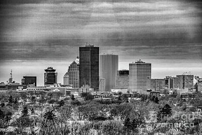 Photograph - Rochester Ny Skyline by William Norton