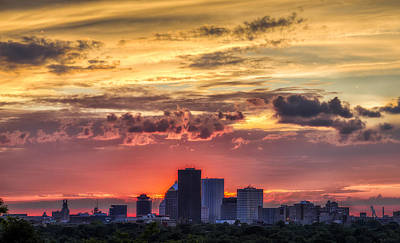 Rochester Skyline Art Print by Mark Papke