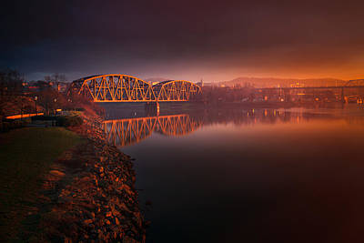 Photograph - Rochester Train Bridge  by Emmanuel Panagiotakis