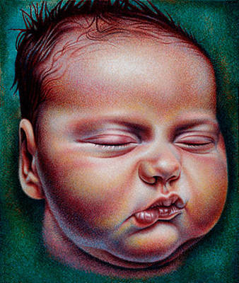 Original featuring the drawing Rock-a-bye Baby by Donna Basile