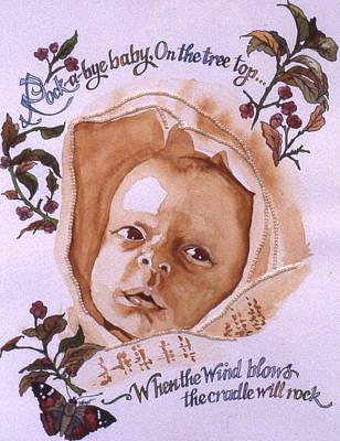 Rock A Bye Baby Art Print by Victoria Heryet