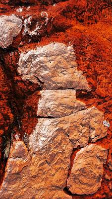 Photograph - Rock Abstracts Of Litchfield N P #1 by Lexa Harpell