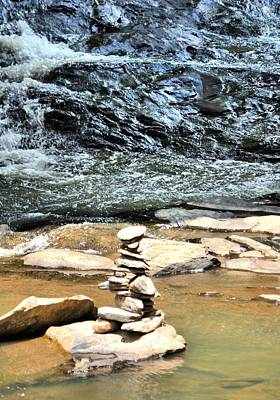 Photograph - Rock Altar On Sope Creek by James Potts