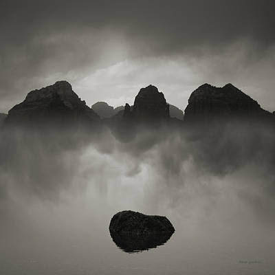 Montage Photograph - Rock And Peaks by Dave Gordon