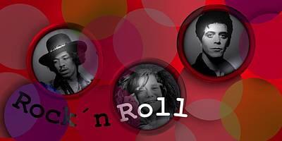Music Digital Art - Rock And Rol For Ever by Alberto RuiZ