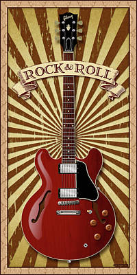 Digital Art - Rock And Roll 335 by WB Johnston