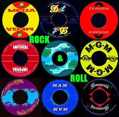 Digital Art - Rock And Roll 9 by David Lee Thompson