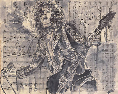 Paul Stanley-rock And Roll All Night Original by Jason  Sauve