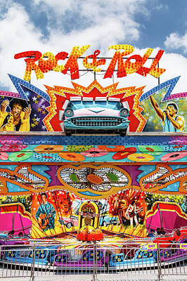 Photograph - Rock And Roll Carnival Ride by Steven Bateson