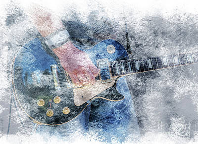Digital Art - Rock And Roll Guitar by Randy Steele
