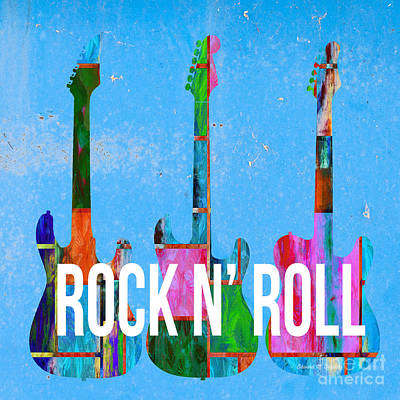 Music Royalty-Free and Rights-Managed Images - Rock and Roll Guitars by Edward Fielding