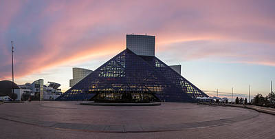 Photograph - Rock And Roll Hall Of Fame At Sunset  by John McGraw
