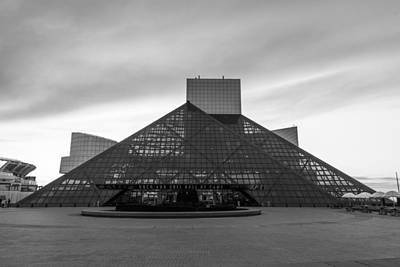 Photograph - Rock And Roll Hall Of Fame Black And White  by John McGraw