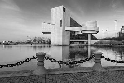 Photograph - Rock And Roll Hall Of Fame With Waterfront by John McGraw