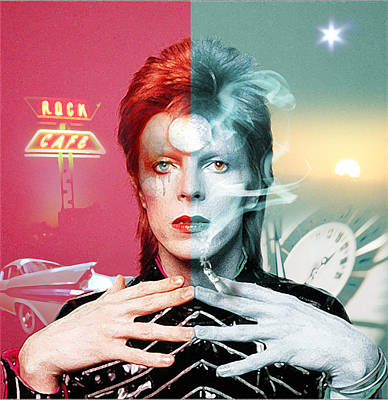 David Bowie Wall Art - Digital Art - Rock And Roll Suicide by Mal Bray