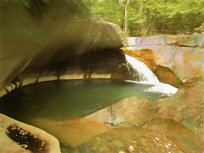 Photograph - Rock And Running Water. by Rusty R Smith