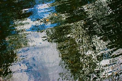 Photograph - Rock And Sky Reflection by Polly Castor