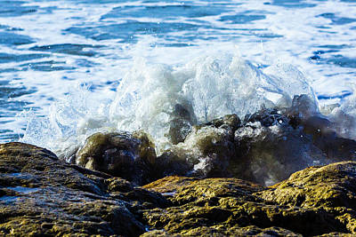 Photograph - Rock And Wave by Randy Bayne