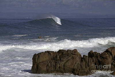 Rock And Wave Art Print by Stan and Anne Foster